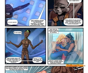 manga Avengers Secret Whores, thor , ms. marvel - carol danvers , dark skin  group