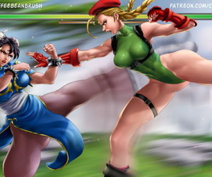 manga chun li x cammy by coffeebeanbrush, chun-li , cammy white , bisexual  anal