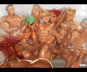 manga Cliff Fittir- The Klausian Orgy - 18+.., dark skin , group
