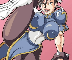 manga The Strongest Woman In The World, chun-li , futanari , big penis